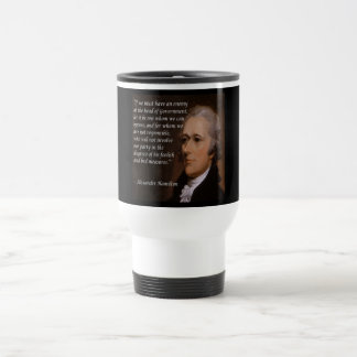 """Caneca Térmica """"Presente do líder inimigo"""" de Alexander Hamilton"""