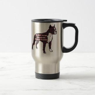 Caneca Térmica Presentes americanos de Terrier de pitbull