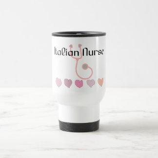 Caneca Térmica Presentes italianos da enfermeira--Corações &