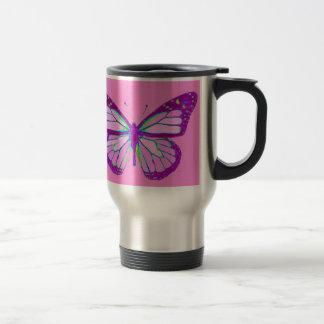 Caneca Térmica Presentes malva roxos da borboleta de monarca por