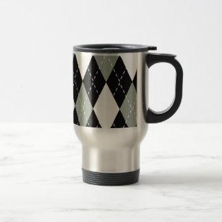 Caneca Térmica Preto cromático de Argyle, cinza, branco