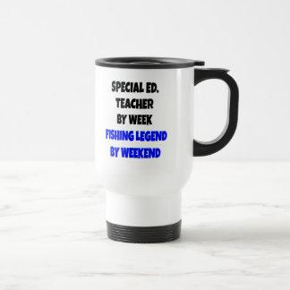 Caneca Térmica Professor do ensino especial da legenda da pesca