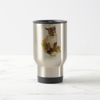 Caneca Térmica Puma pequeno bonito Cub, natureza animal, animais