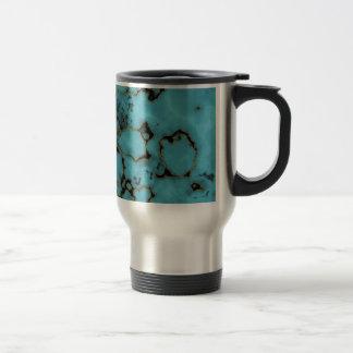 Caneca Térmica Refrigere o design de mármore azul da textura