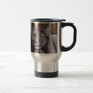 Caneca Térmica Retrato cinzento do animal de estimação do gato