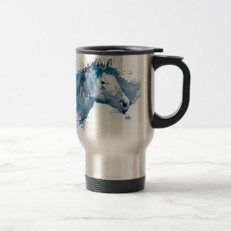 Caneca Térmica Retrato do cavalo da aguarela
