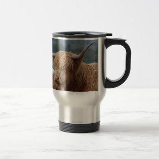 Caneca Térmica retrato do gado das montanhas