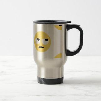 Caneca Térmica rolamento do olho do emoji
