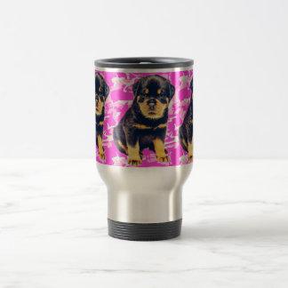 Caneca Térmica Rottweiler com Camo cor-de-rosa