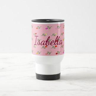 Caneca Térmica Sensual feminino romântico cor-de-rosa floral