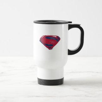Caneca Térmica Símbolo do superman da escova & da reticulação da