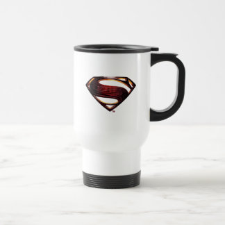 Caneca Térmica Símbolo metálico do superman da liga de justiça |