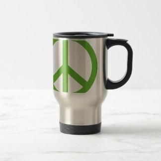 Caneca Térmica Símbolo verde do sinal de paz