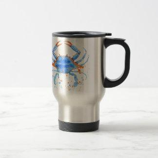 Caneca Térmica Splatter da pintura do caranguejo azul da aguarela