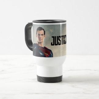 Caneca Térmica Superman da liga de justiça | no campo de batalha