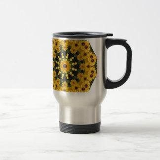 Caneca Térmica Susans de olhos pretos, mandala floral