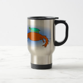 Caneca Térmica Tartaruga de água doce que flutua em uma raposa