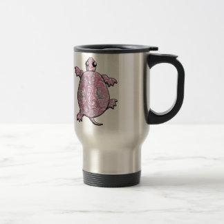 Caneca Térmica Tartarugas cor-de-rosa de Paisley