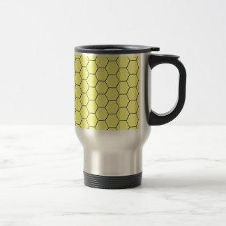 Caneca Térmica Teste padrão amarelo do favo de mel