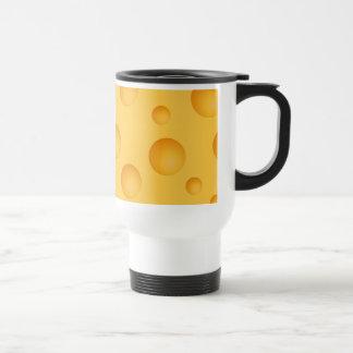 Caneca Térmica Teste padrão amarelo do queijo