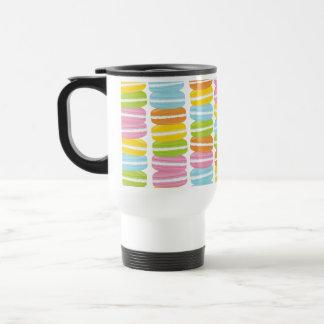 Caneca Térmica Teste padrão colorido da pilha de Macarons