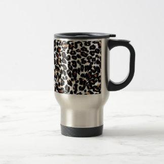 Caneca Térmica Teste padrão do impressão do leopardo
