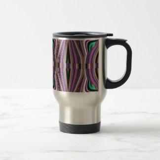 Caneca Térmica Teste padrão violeta roxo do asteca do esboço