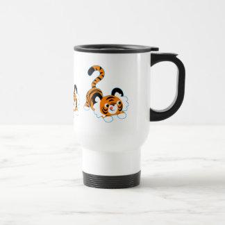 Caneca Térmica Tigre bonito dos desenhos animados pronto para