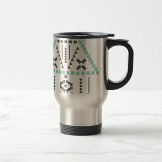 Caneca Térmica Totem de Boho, símbolo étnico, Hippie, asteca,