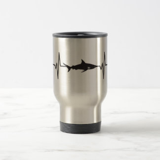 Caneca Térmica Tubarão de Blacktip - gráfico do pulso da pulsação