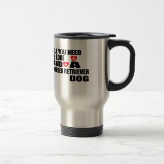 Caneca Térmica Tudo você precisa o design dos cães do GOLDEN