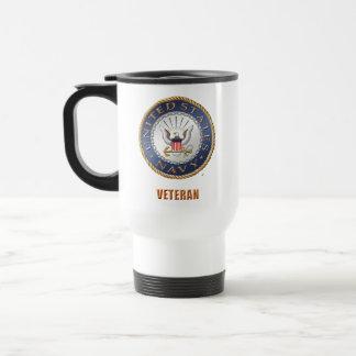 Caneca Térmica U.S. Viagem do veterano do marinho/caneca da