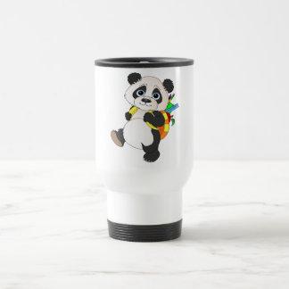 Caneca Térmica Urso de panda com trouxa