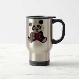 Caneca Térmica Urso de panda engraçado que joga o acordeão