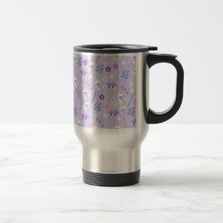 Caneca Térmica violeta, lavanda, bonito, floral, cor-de-rosa,