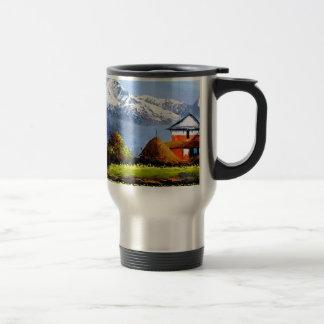 Caneca Térmica Vista panorâmica da montanha bonita de Everest