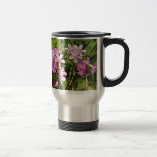 Caneca Térmica Wildflowers cor-de-rosa delicados do primavera