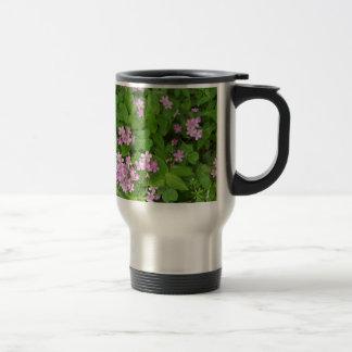 Caneca Térmica Wildflowers delicados cor-de-rosa pequenos