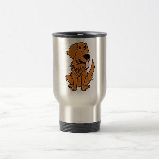 Caneca Térmica XX- desenhos animados engraçados do cão do golden