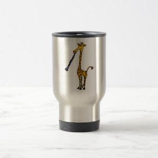 Caneca Térmica XX- girafa que joga o clarinete