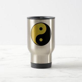 Caneca Térmica Zen asiático da filosofia do ouro do símbolo | de