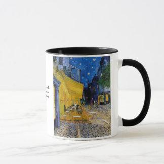 Caneca Terraço do café por Vincent van Gogh