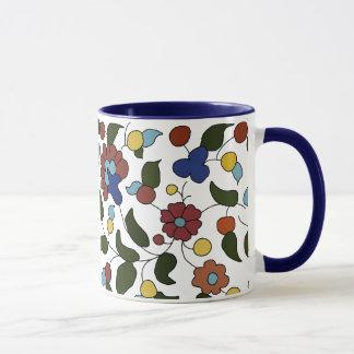 Caneca Teste padrão floral arménio