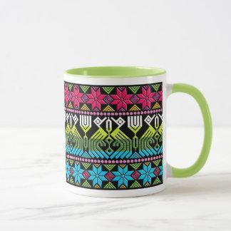 Caneca Teste padrão maia colorido
