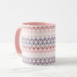 Caneca Teste padrão malva cor-de-rosa roxo violeta Pastel