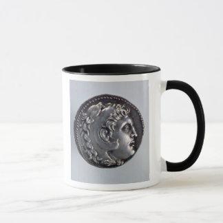 Caneca Tetradrachma que descreve Alexander o excelente