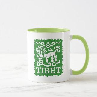 Caneca tibetana do chá e de café do leão da neve