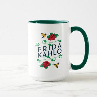 Caneca Tipografia floral de Frida Kahlo |