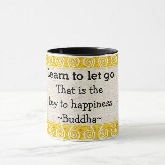 Caneca Tipografia inspirada das citações de Buddha