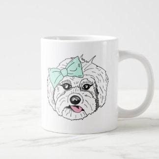 Caneca tirada na moda do cão